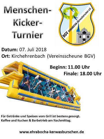 Flyer Human Kicker Tournament on 7th July 2018