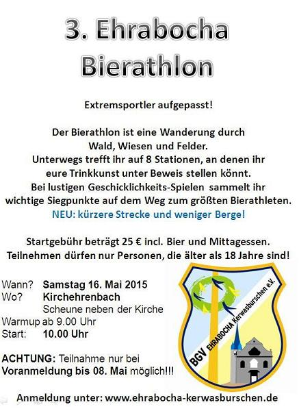 Flyer Bierathlon am 31. Mai 2014