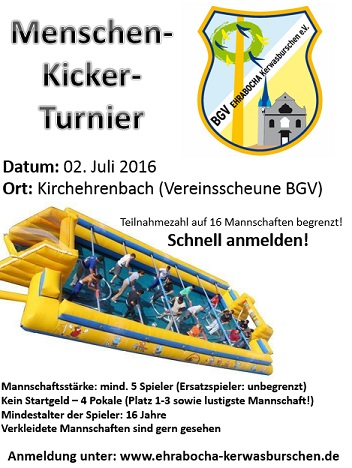 Human Kicker Tournament on 11th July