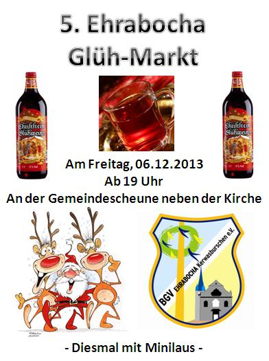 Flyer Glühmarkt am 6.12.2013